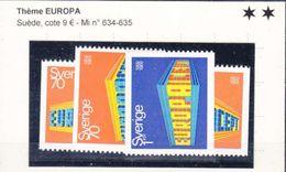 EUROPA - MICHEL 634** EN PAIRE DON DENT G+D -  ET 634**-635** - Suède