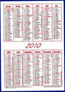 CALENDRIER DE POCHE 2010 PETIT FORMAT HOPITAL ASSISTANCE AUVERGNE 10,5X15cm - NOTRE SITE Serbon63 - Calendriers