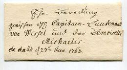 Schnoerkelbrief / 1763 / Mit Vollstaendigem Inhalt (3 Seiten), Wachssiegel (01906) - Allemagne