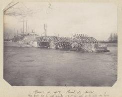 PONT DE MOURS, 05 Déc 1914. Vue Rive Gauche.  Quadruplement. Photo Originale - Trains