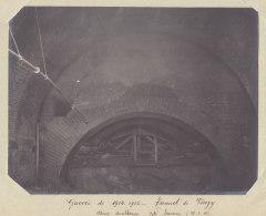 TUNNEL DE VIERZY : Effondrement Volontaire, 28 Janv 1915, Arcs Doubleaux Côté Soissons. Quadruplement. Photo Originale - Trains