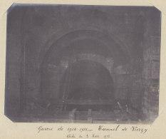 TUNNEL DE VIERZY : Effondrement Volontaire, 3 Mars 1915. Quadruplement. Photo Originale - Trains