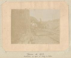 CREPY EN VALOIS : Destruction Du Pont, Guerre De 1914. Photo Originale . Quadruplement - Trains