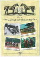 8641 Hungary Postcard Fauna Animal Mammal Horse Sport Equestrian Architecture Stadium Race Trotting-race - Horses