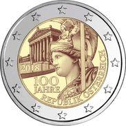 AUSTRIA 2 EURO 2018 - 100 Years Of Republic - UNC Quality - In Stock - Austria