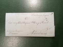 """""""SUHLINGEN"""" SULINGEN 1817 Brief """"LANDWEHRSACHEN AUS EHRENBURG""""> Nienburg  (Hannover Altdeutschland Cover Vorphilatelie - Hanover"""