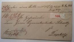WAGENFELD Paketbegleitbrief > Diepholz  (Hannover Altdeutschland Cover Brief PBB - Hanover