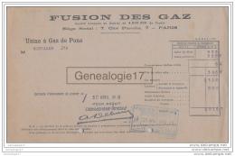 75 13 744 PARIS SEINE 1918 FUSION DES GAZ CitÂŽ Paradis -- USINE A GAZ DE PONS 17 - France