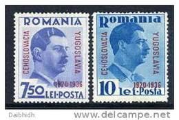 ROMANIA 1936 Little Entente Set MNH / **.  Michel 522-23 - 1918-1948 Ferdinand, Charles II & Michael