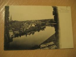 HALLE A. S. Giebichenstein Auf Crollwitz Post Card Saxony Anhalt Germany - Halle (Saale)