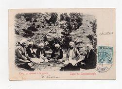 !!! PRIX FIXE : LEVANT AUTRICHIEN, CACHET DE GALLIPOLI DE 1903 SUR CPA DE CONSTANTINOPLE - Levant (1885-1946)