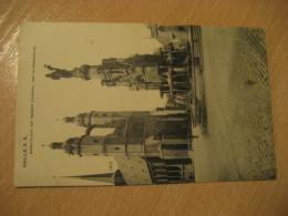 HALLE A. S. Marktplatz Mit Sieges Denkmal Und Marienkirche Fountain 1908 To Dresden Post Card Saxony Anhalt Germany - Halle (Saale)