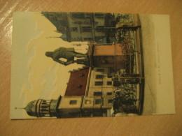 HALLE A. S. Handel Denkmal Stage Coach Stagecoach Post Card Saxony Anhalt Germany - Halle (Saale)