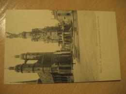 HALLE A. S. Marktplatz Mit Siegesdenkmal Marienkirche Fountain Post Card Saxony Anhalt Germany - Halle (Saale)