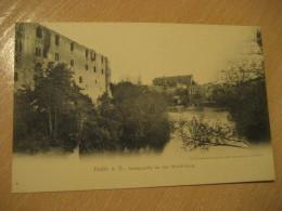 HALLE A. S. Saalepartie An Der Moritzburg Post Card Saxony Anhalt Germany - Halle (Saale)
