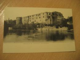 HALLE A. S. Moritzburg Wasserseite Post Card Saxony Anhalt Germany - Halle (Saale)