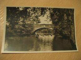 HAMBURG Restaurante Bridge Hagenbecks Tierpark Stellingen Zoo Post Card Germany - Stellingen