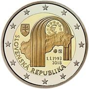 SLOVAKIA 2 EURO 2018 - The Establishment Of The Slovak Republic - UNC Quality - In Stock - Slovakia