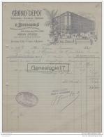 75 15 111 PARIS SEINE 1905 Grand Depot PORCELAINE FAIENCE E. Bourgeois CRISTAUX Rue Drouot A SIGNORET Eugene - France