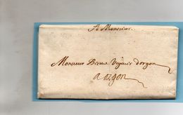 Correspondance D'AIX Pour ORGON Le 12/12/1664.Beau Pliage. - Marcophilie (Lettres)