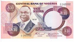 NIGERIA  - 10 NAIRA - FIOR DI STAMPA - CARTAMONETA - PAPER MONEY - Nigeria