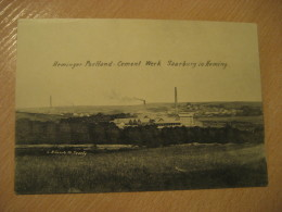 HEMING Saarburg Heminger Portland Cement Werk Post Card Rhineland Palatinate Trier Germany Luxembourg - Saarburg