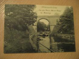 HEMING Kanal Strassenbrucke Bridge Rhein Marne Post Card Saarburg Rhineland Palatinate Trier Germany Luxembourg - Saarburg