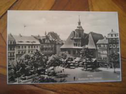 JENA Marktplatz Rathaus Post Card Thuringia Germany - Jena