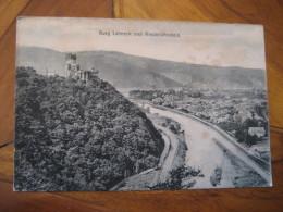 LAHNECK Burg Niederlahnstein Castle Post Card Lahnstein Rhineland Palatinate Koblenz Germany - Lahnstein