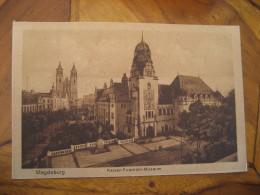 MAGDEBURG Kaiser Friedrich Museum Post Card Saxony Anhalt Germany - Magdeburg