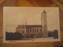 MAGDEBURG Dom Post Card Saxony Anhalt Germany - Magdeburg