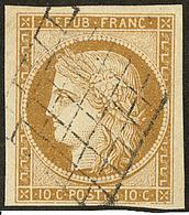 No 1, Obl Grille, Jolie Pièce. - TB - 1849-1850 Ceres