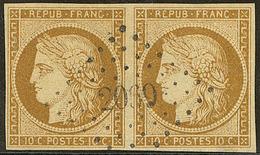 No 1, Paire Horizontale Obl Pc 2060, Jolie Pièce. - TB - 1849-1850 Ceres