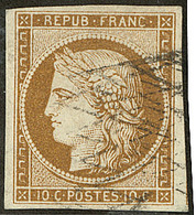No 1a, Bistre-brun, Un Voisin, Obl Grille Sans Fin. - TB - 1849-1850 Ceres
