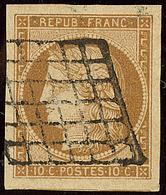 No 1a, Obl Grille, Un Voisin, Jolie Pièce. - TB - 1849-1850 Ceres