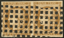 No 1a, Paire Horizontale Obl Gros Points. - TB - 1849-1850 Ceres