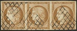 No 1a, Bande De Trois, Pli En Marge Du Haut, TB D'aspect - 1849-1850 Ceres