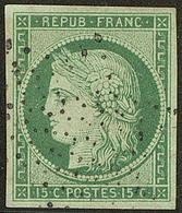 No 2, Obl étoile, Nuance Foncée, Jolie Pièce. - TB. - R - 1849-1850 Ceres