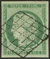 No 2a, Obl Grille, Jolie Pièce. - TB. - R - 1849-1850 Ceres