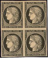 ** No 3, Bloc De Quatre, Très Frais. - TB - 1849-1850 Ceres