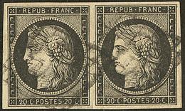 No 3, Paire Horizontale. - TB - 1849-1850 Ceres