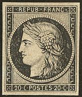 * No 3f, Noir Sur Teinté. - TB - 1849-1850 Ceres
