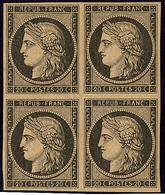* No 3f, Bloc De Quatre (un Ex **), Très Frais. - TB - 1849-1850 Ceres