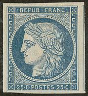 (*) No 4, Bleu, Un Voisin, Jolie Pièce. - TB. - R - 1849-1850 Ceres