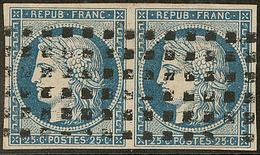 No 4, Paire Horizontale Obl Gros Points. - TB - 1849-1850 Ceres
