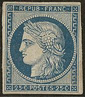* No 4c, Bleu Foncé, Am. Et Pli Mais Très Frais Et TB D'aspect. - R - 1849-1850 Ceres