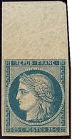 * No 4d, Bleu Sur Jaune, Grand Bdf, Superbe. - RR - 1849-1850 Ceres