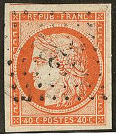 No 5, Orange, Nuance Vive, Jolie Pièce. - TB - 1849-1850 Ceres