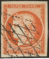 No 5, Nuance Vive, Obl Grille Sans Fin, Jolie Pièce. - TB - 1849-1850 Ceres