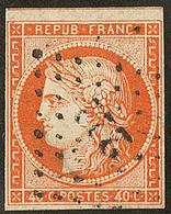 No 5, Obl Pc 3222, Un Voisin Mais 3 Petites Marges. - TB - 1849-1850 Ceres